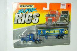 Matchbox Super Rigs Blue Planters Mr. Peanut Semi Truck | Model Vehicle Sets
