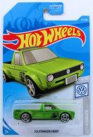 Volkswagen Caddy | Model Cars | HW 2019 - Collector # 177/250 - Volkswagen 6/10 - Volkswagen Caddy - Green - USA Card