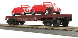 O gauge rail king flat car w%252f%25282%2529 %252737 ford v 8 convertibles great northern 65006 model trains %2528rolling stock%2529 80553415 5d22 45dd 8f5f 9af3e2784d59 medium