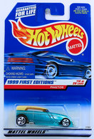 Phaeton   Model Cars   HW 1999 - Collector # 916 - First Editions 14/26 - Phaeton - Teal - USA Blue Car Card - Warning at Center Left