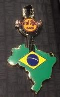 Brazil Map Guitar | Pins & Badges