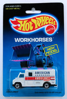Ambulance | Model Trucks | HW 1989 - Toy # 1792 - Workhorses / New Model - Ambulance - White - BW Wheels - USA Card