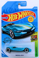Twin Mill Gen-E | Model Cars | HW 2019 - Collector # 222/250 - HW Exotics 6/10 - New Models - Twin Mill Gen-E - Turquoise - USA Card