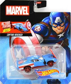 Captain America | Model Cars | 2019 Hot Wheels Marvel Comics Captain America