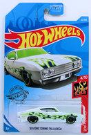 '69 Ford Torino Talladega | Model Cars | HW 2019 - Collector # 032/250 - HW Flames 4/10 - '69 Ford Torino Talladega - White - USA Card