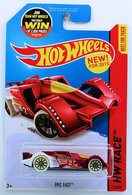 Epic Fast | Model Racing Cars | HW 2015 - Collector # 170/250 - HW Race / Night Storm / New Models - Epic Fast - Red - USA 'Instant Win' Card