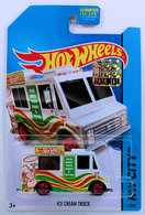 Ice Cream Truck | Model Trucks | HW 2014 - Collector # 009/250 - HW City / City Works - Ice Cream Truck - White - Small Rear Window - USA Card with Factory Sticker