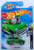 Surf 'N Turf | Model Cars | HW 2019 - Collector # 079/250 - Rod Squad 7/10 - Surf 'N Turf - Green - USA 'MONTH' Card