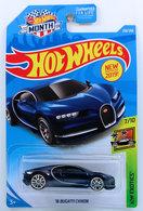 '16 Bugatti Chiron  | Model Cars | HW 2019 - Collector # 236/250 - HW Exotics 7/10 - New Models - '16 Bugatti Chiron - Dark Blue Metallic - USA 'Month' Card