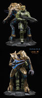 Master chief and arbiter statue statues and busts cbfba855 b9d7 4a3b bf25 4ccff7062b77 medium