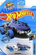 Sharkruiser | Model Cars | 2019 Hot Wheels Mal-Mart Month Card Street Beasts Treasure Hunt Sharkruiser