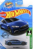 Tesla Model S | Model Cars | 2019 Hot Wheels Wal-Mart Month  HW Green Speed Tesla Model S