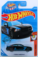 '11 Dodge Charger R/T | Model Cars | HW 2019 - Collector # 158/250 - Muscle Mania 10/10 - '11 Dodge Charger R/T - Black - USA 'Month' Card