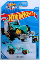 Eevil Weevil | Model Cars | HW 2019 - Collector # 169/250 - Street Beasts 2/10 - Eevil Weevil - Turquoise - USA 'Month' Card