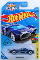 Mach Speeder | Model Cars | HW 2019 - Collector # 229/250 - HW Art Cars 8/10 - Mach Speeder - Blue - USA 'Month' Card