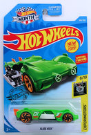 Slide Kick | Model Cars | HW 2019 - Collector # 144/250 - Experimotors 8/10 - New Models - Slide Kick - Green - USA 'Month' Card