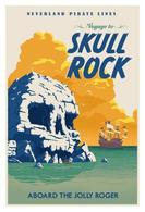 Peter pan skull rock travel poster posters and prints d4e98104 d141 4590 8960 9eb8b6fbc37f medium
