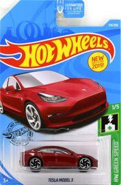 2019 Hot Wheels #174 HW Green Speed Tesla Model 3 #1//5 Red