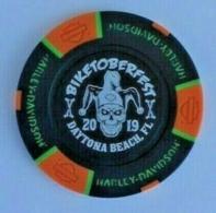 Harley davidson daytona beach biketober fest 2019 poker chip tokens and casino chips b5980591 4cdb 418c aa59 19c0f1343a54 medium