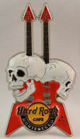 Double neck guitar with punctured skulls pins and badges bee591e2 0351 48ce bd85 2e74ed2e1f13 medium