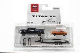 2018 nissan titan xd pro 4x pickup truck and 1971 datsun 240z car with heavy duty trailer model cars e03dc161 afcb 40f8 83c6 5debb57e9dd7 medium