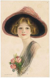 Lady with Hat, Constance | Postcards