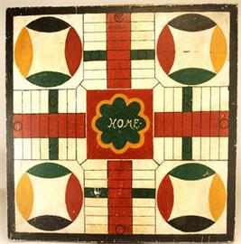 5-Color Parcheesi Gameboard American | Board Games