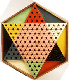 6-Color, 6-Sided Chinese Checkers Gameboard, Ca. 1st Half 20th Century  | Board Games