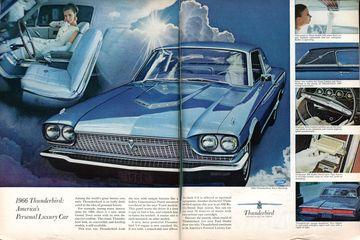 1966 Thunderbird America S Personal Luxury Car Print Ads Hobbydb