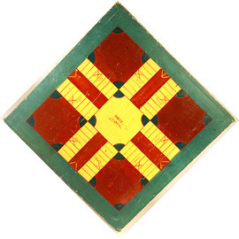 5-Color Parcheesi Gameboard in Blue, Yellow and Red | Board Games