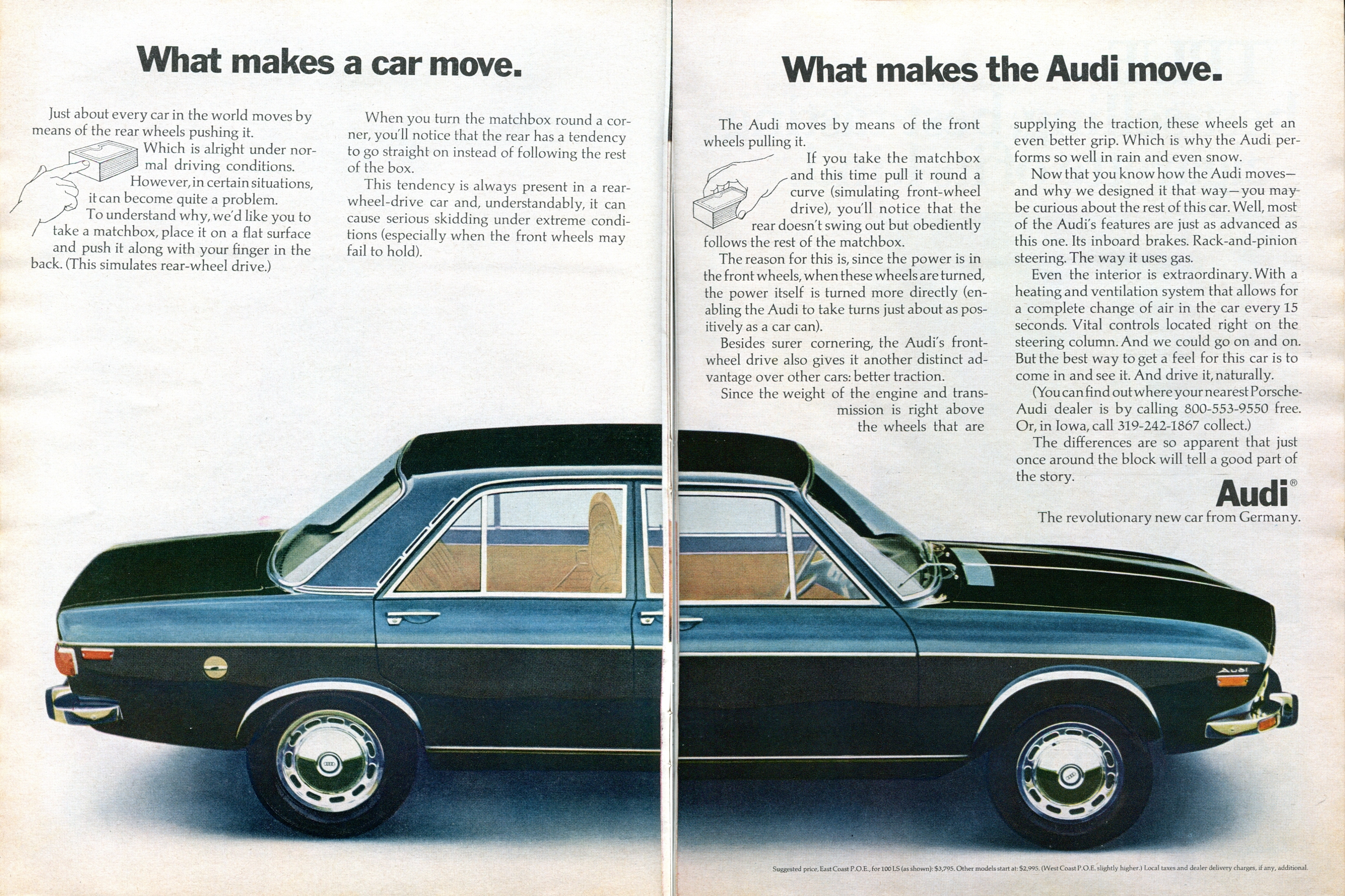 What Makes A Car Move. What Makes The Audi Move. | Print Ads | hobbyDB