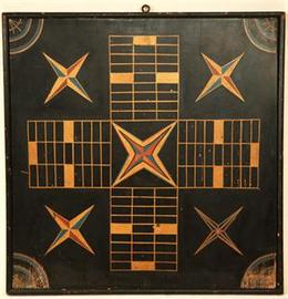 Black 2-Sided Parcheesi Gameboard | Board Games
