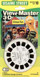Sesame Street Series No. 10: Circus Fun | View-Master Reels | Sesame Street: Circus Fun in original box