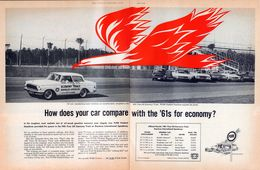 How Does Your Car Compare With The '61s For Economy? | Print Ads