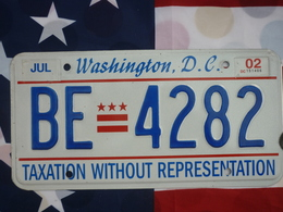 Washington D.C. License Plate | License Plates | 2002 DC TAXATION EMBOSSED