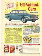 Win One Of 60 Valiant Cars | Print Ads