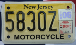 New Jersey Motorcycle License Plate | License Plates