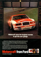 Motorcraft Races The Toughest Courses To Get Into Your Garage. | Print Ads