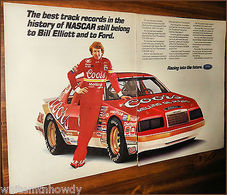 The Best Track Records In The History Of Nascar Still Belong To Bill Elliott And To FORD. | Print Ads
