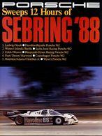 Porsche Sweeps 12 Hours of Sebring '88   Posters & Prints