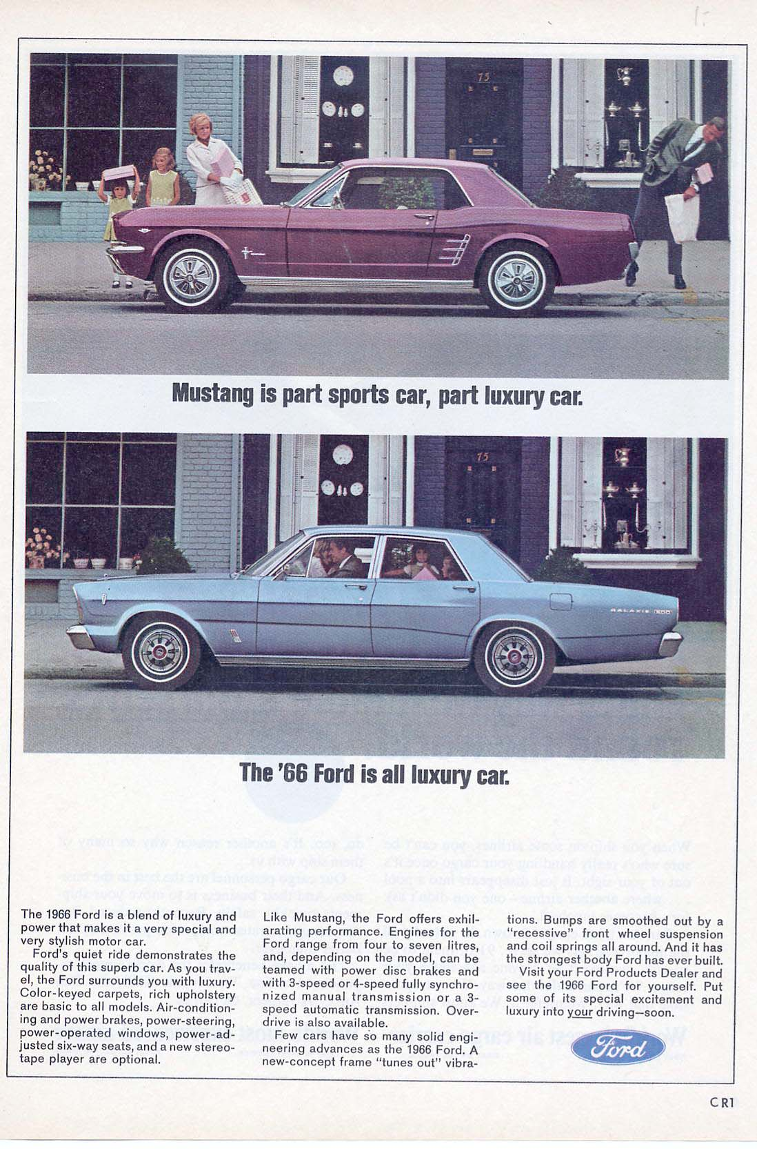 Mustang Is Part Sports Car Part Luxury Car The 66 Ford Is All