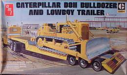 Caterpillar D8H Bulldozer And Lowboy Trailer | Model Construction Equipment Kits