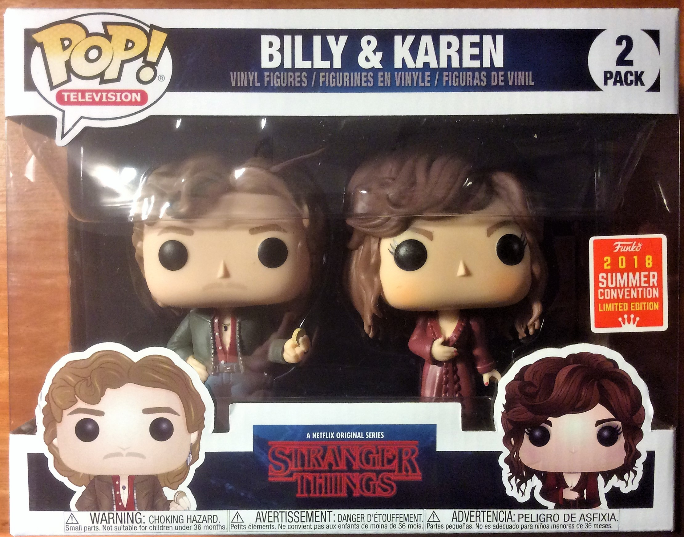 Mint Stranger Things Billy Karen 2 Pack Summer Convention