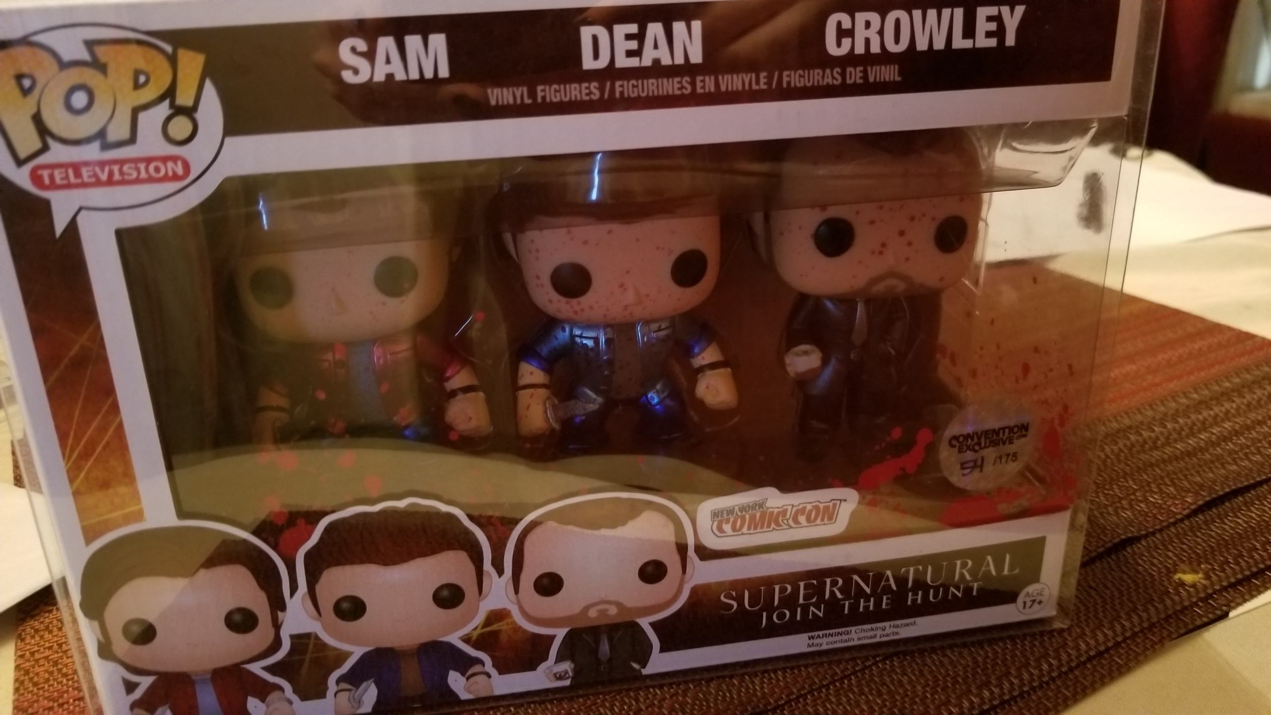 Sam, Dean, & Crowley (Metallic) (Bloody) (3-Pack) | hobbyDB