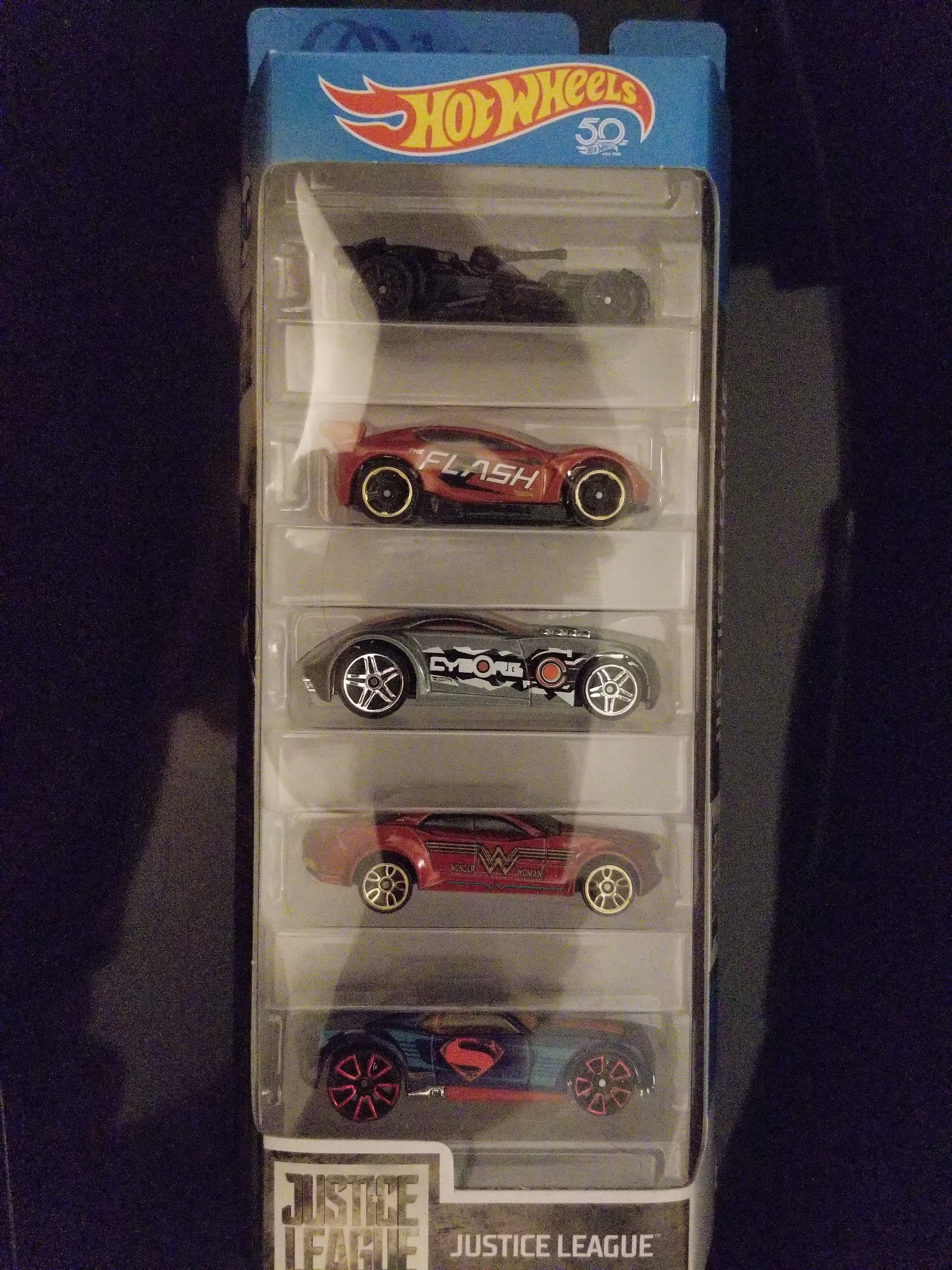 Hot Wheels Justice League 5 Car Pack | The hobbyDB Marketplace