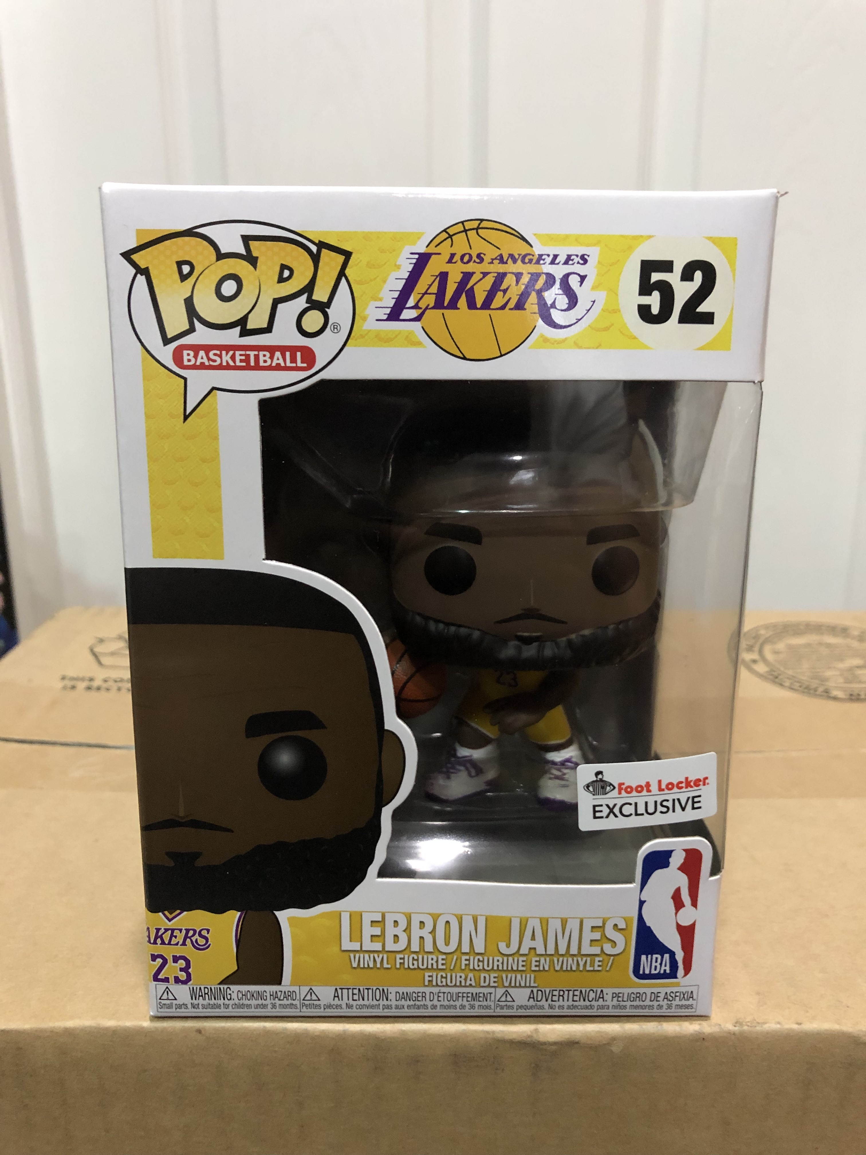 cheap for discount b1342 8c386 LeBron James (Lakers) (Yellow Jersey) | hobbyDB