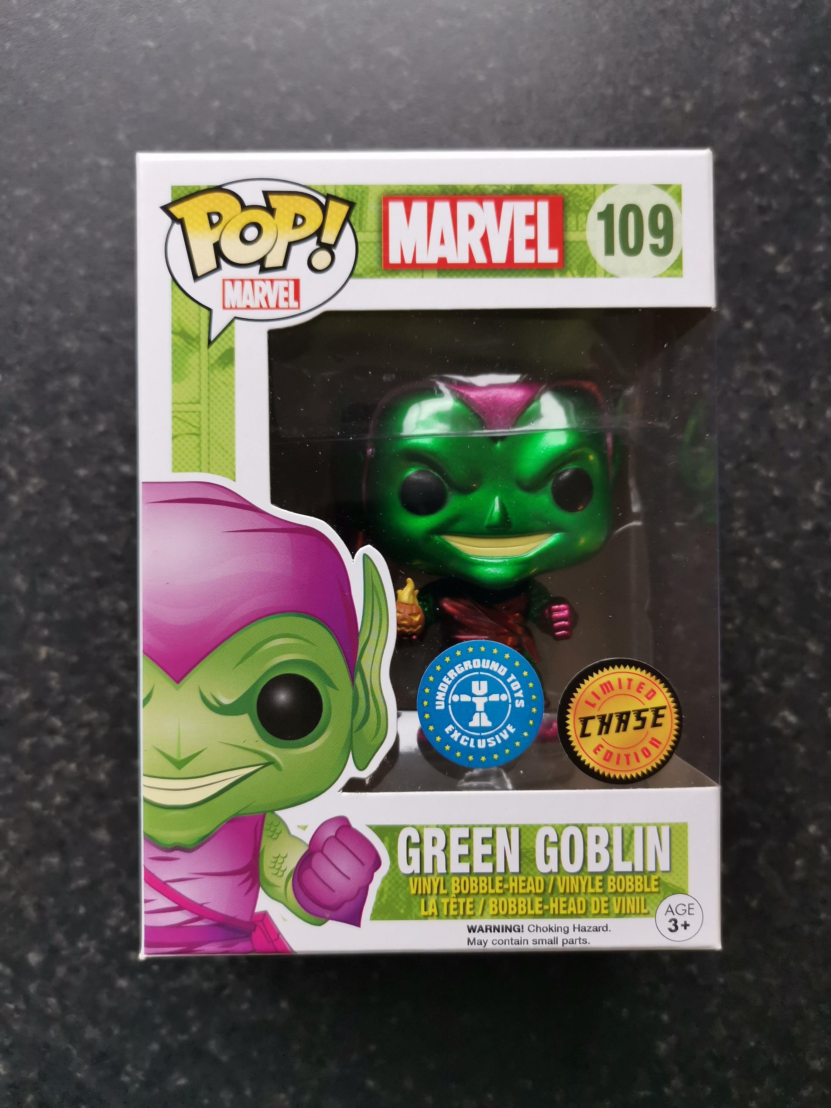 Figurine Disney Marvel Green Goblin Exclusive Toys UnderGround Funko POP