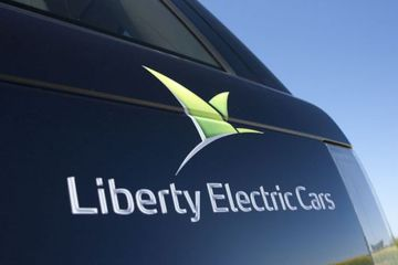 Liberty electric cars decal large