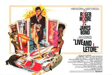 Live and let die  uk cinema poster large