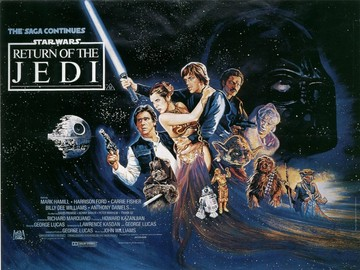 Return of the jedi poster large